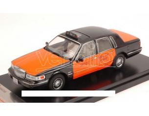 PremiumX PRD363 LINCOLN TOWN CAR 1996 USA TAXI ORANGE/BLACK 1:43 Modellino