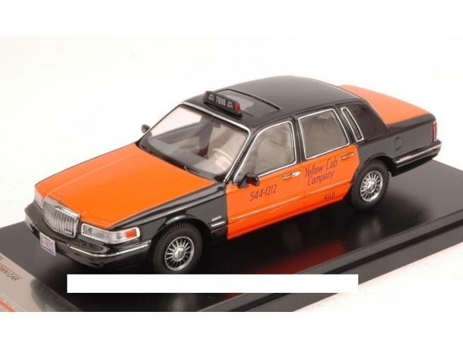 PremiumX PRD363 LINCOLN TOWN CAR 1996 USA TAXI ORANGE/BLACK 1:43 Modellino