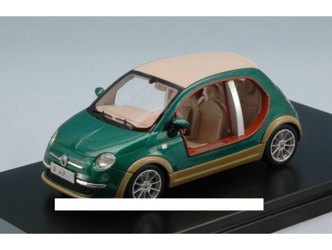 Protar PR0256 FIAT 500 CASTAGNA EV KHAMIS GHEDDAFI 2009 GREEN/WOOD 1:43 Modellino