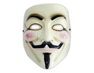 Maschera V per Vendetta Guy Fawkes Mask Wachowski Alan Moore carnevale