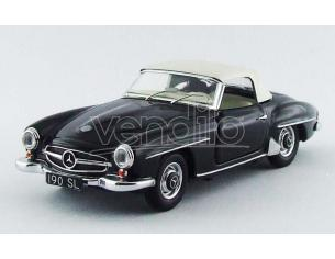 Rio RI4483 MERCEDES 190 SL 1959 W/SOFT TOP BLACK 1:43 Modellino