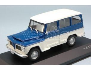 White Box WB092 WILLYS RURAL 1968 WHITE/BLUE 1:43 Modellino