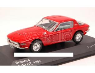 White Box WB102 BRASINCA 4200 GT COUPE' 1965 RED 1:43 Modellino