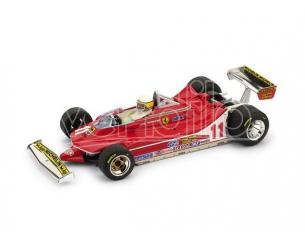 Brumm BM0511CH FERRARI 312 T4 J.SCHECKTER 1979 N.11 WINNER ITALY GP + PILOTA 1:43 Modellino