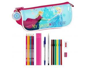 Astuccio portapenne scuola Frozen 17 Piece pencil case Nordic Summer 20 cm Safta