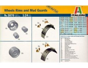 Italeri It3870 Wheels Rims E Mud Guards Kit 1:24 Modellino