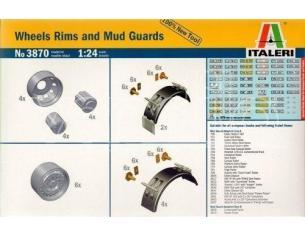 Italeri It3870 Wheels Rims E Mud Guards Kit 1:24 Modellino