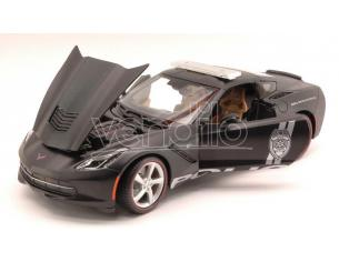 Maisto MI36212 CORVETTE STINGRAY 2014 SAFETY SERVICE AND SECURITY MATT BLACK 1:18 Modellino