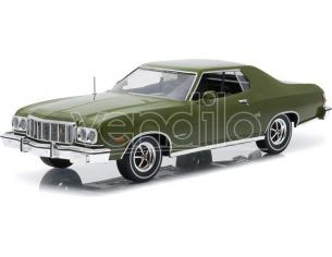 Greenlight GREEN19018 FORD GRAN TORINO 1976 ARTISAN COLLECTION DARK GREEN METALLIC 1:18 Modellino