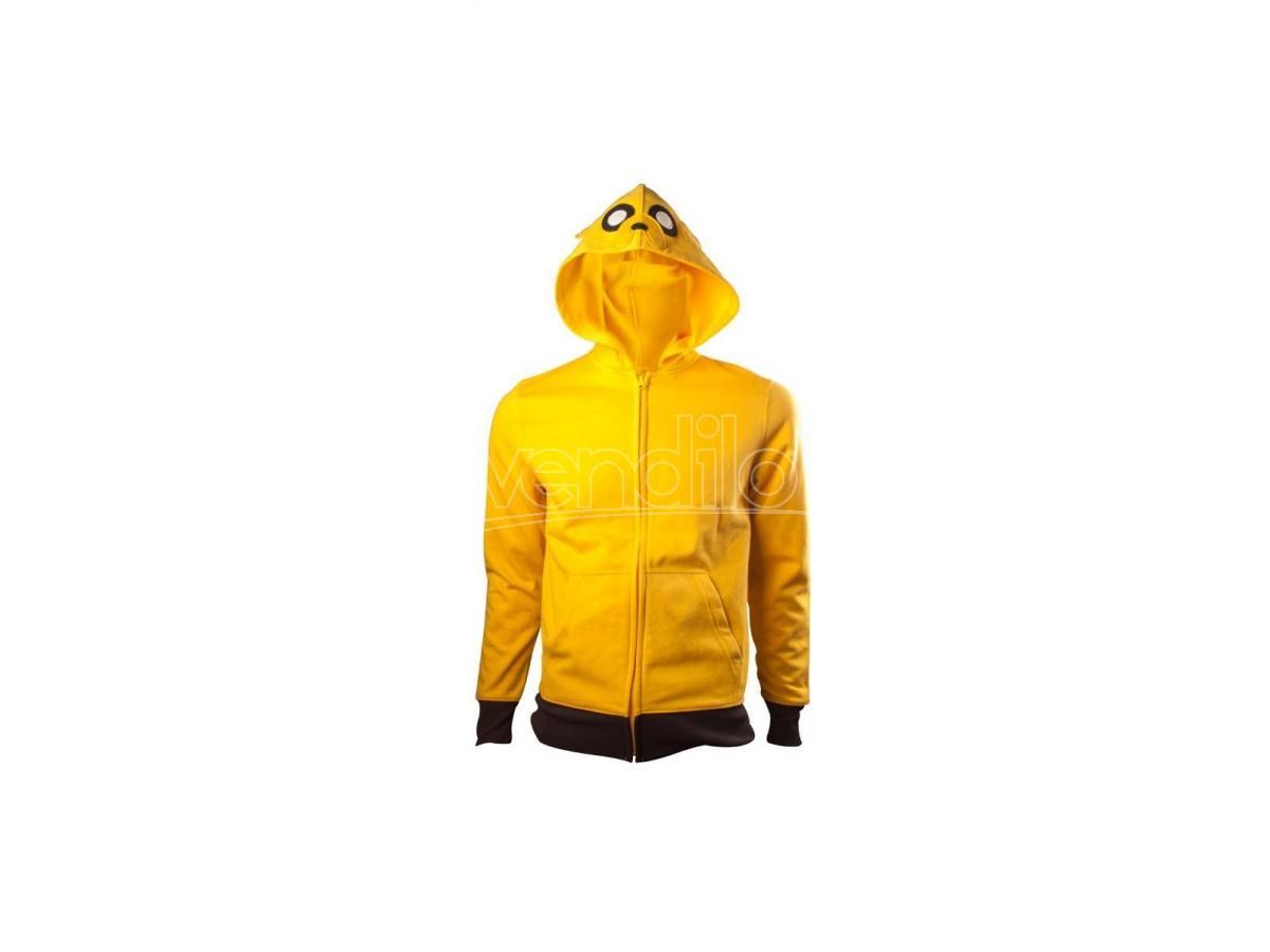 Adventure Time Jake Hoodle Felpa Felpaer Logo Size L Bioworld