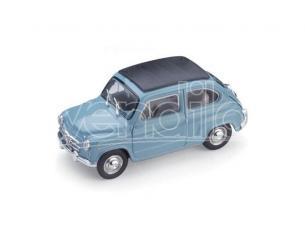 Brumm BM0318-08 FIAT 600D TRASFORMABILE CHIUSA 1960 AZZURRO CENERE 401 1:43 Modellino