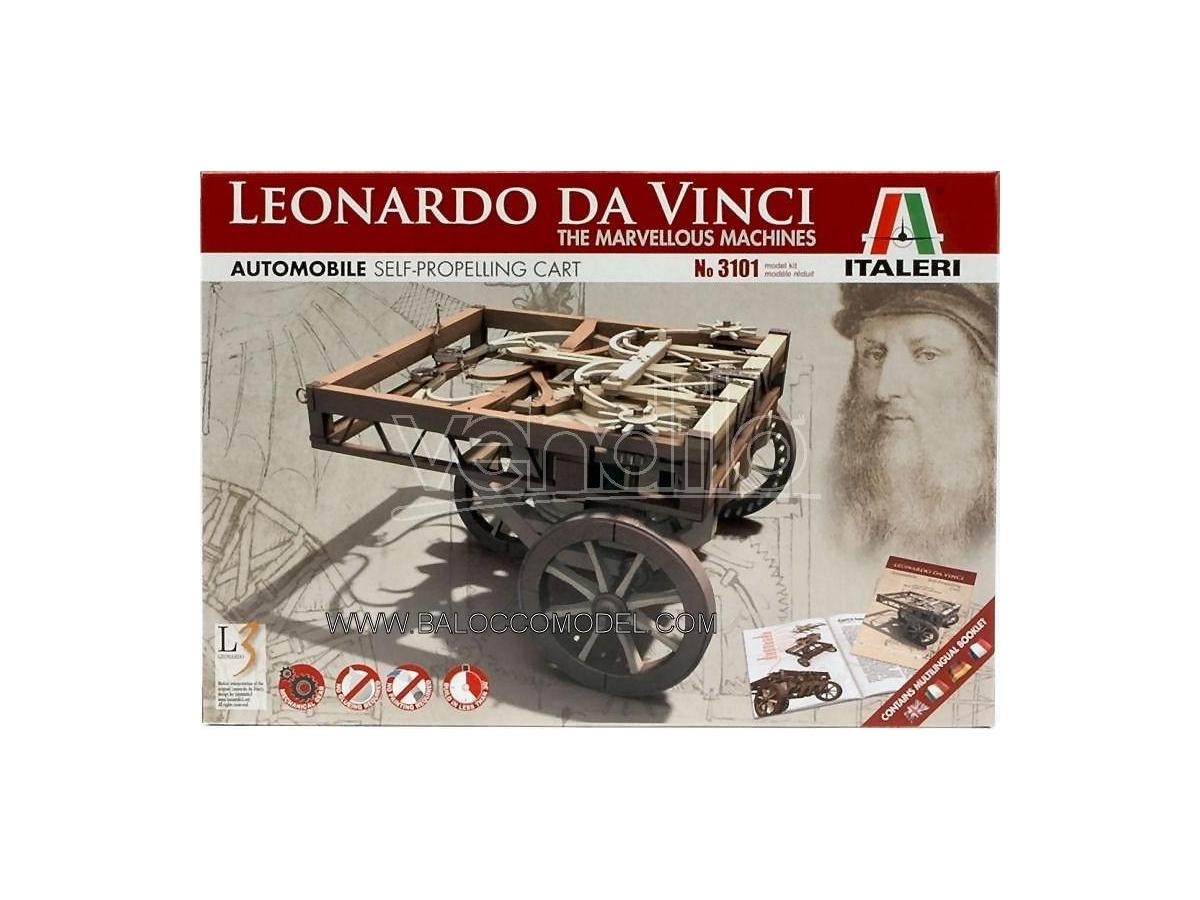 Italeri IT3101 AUTOMOBILE LEONARDO KIT cm 10 Modellino