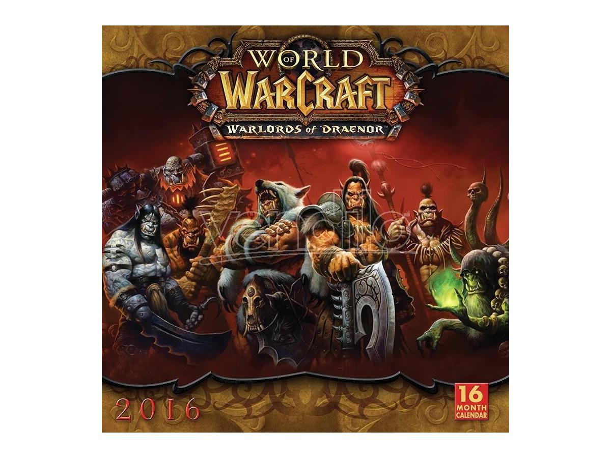 BROWN TROUT CALENDAR 2016 WORLD OF WARCRAFT WALL CALENDARIO
