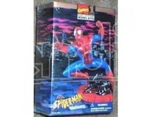 Marvel SPIDER-MAN 1996 Marvel Comics Model Kit Toy Biz 8 SCATOLA ROVINATA