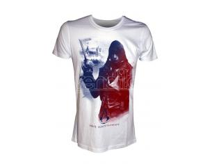 BIOWORLD T-SHIRT ASSASSIN CREED ARNO FRENCHFLAG WHITE TAGLIA XL T-SHIRT