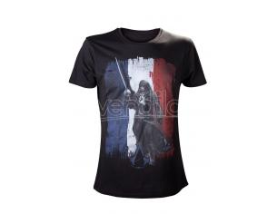 BIOWORLD T-SHIRT ASSASSIN CREED ARNO FRENCHFLAG BLACK TAGLIA M T-SHIRT
