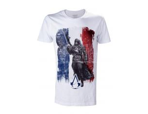 BIOWORLD T-SHIRT ASSASSIN CREED ARNO FRNCH FLAG WHITE TAGLIA L T-SHIRT
