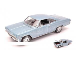 Welly WE2417 CHEVROLET IMPALA SS396 COUPE' 1965 BLUE 1:24 Modellino