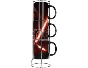 SD TOYS SW EP7 KYLO LIGHTSABER 3 STACKBL MUGS TAZZA