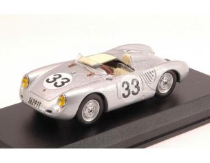 Best Model BT9586 PORSCHE 55O RS N.33 RETIRED LM 1957 LARROUSSE-VON   FRANKENBERG 1:43 Modellino