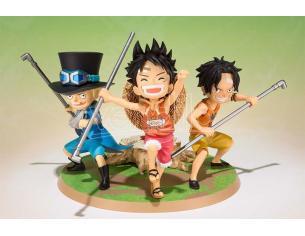 One Piece Zero Luffy Ace Sabo Personaggio Figura 10 cm Bandai
