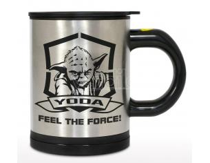 Tazza Thermo con mescolatore Yoda Star Wars Feel The Force