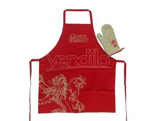 SD TOYS GAME OF THRONES LANNISTER APRON/OVEN MIT ACCESSORI CUCINA