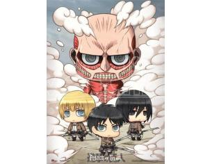 GE ANIMATION ATTACK ON TITAN SD GROUP WALLSCROLL WALL SCROLL