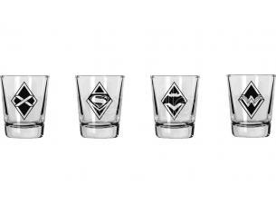 SD TOYS BATMAN VS SUPERMAN MINI GLASSES SET (4) BICCHIERI