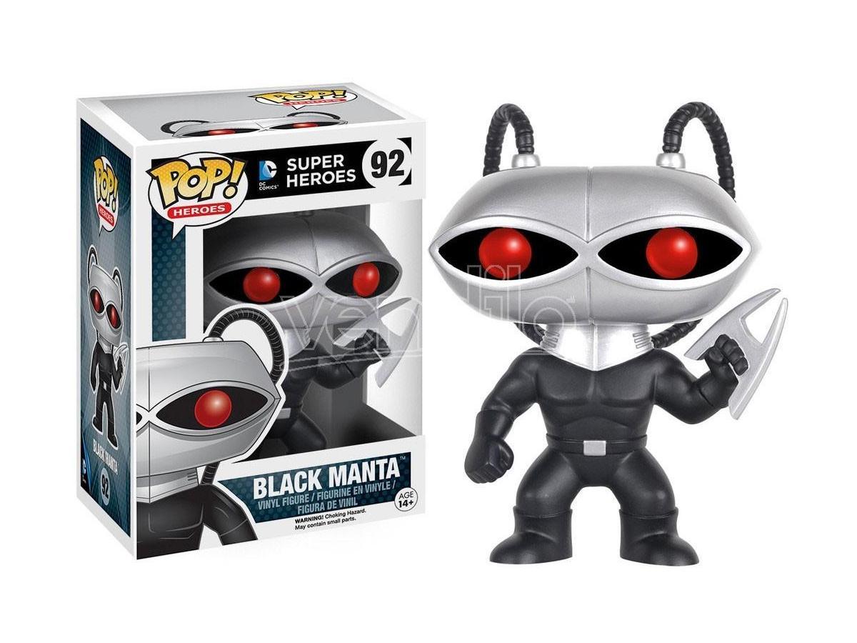 Funko Super Heroes POP DC Comics Vinile Figura Black Manta 9 cm