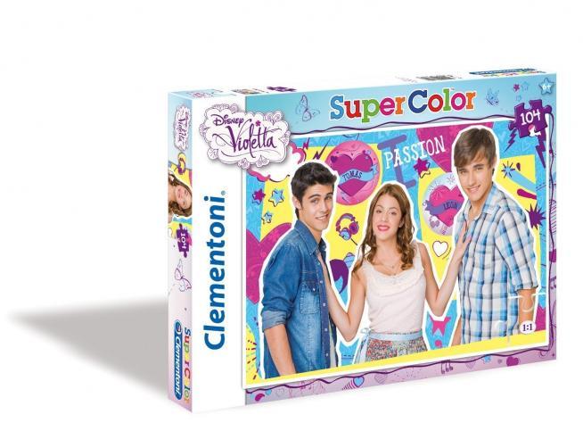 Clementoni 27891 Puzzle Super Color Violetta Tomas & Leon, 104 Pezzi Giocattolo