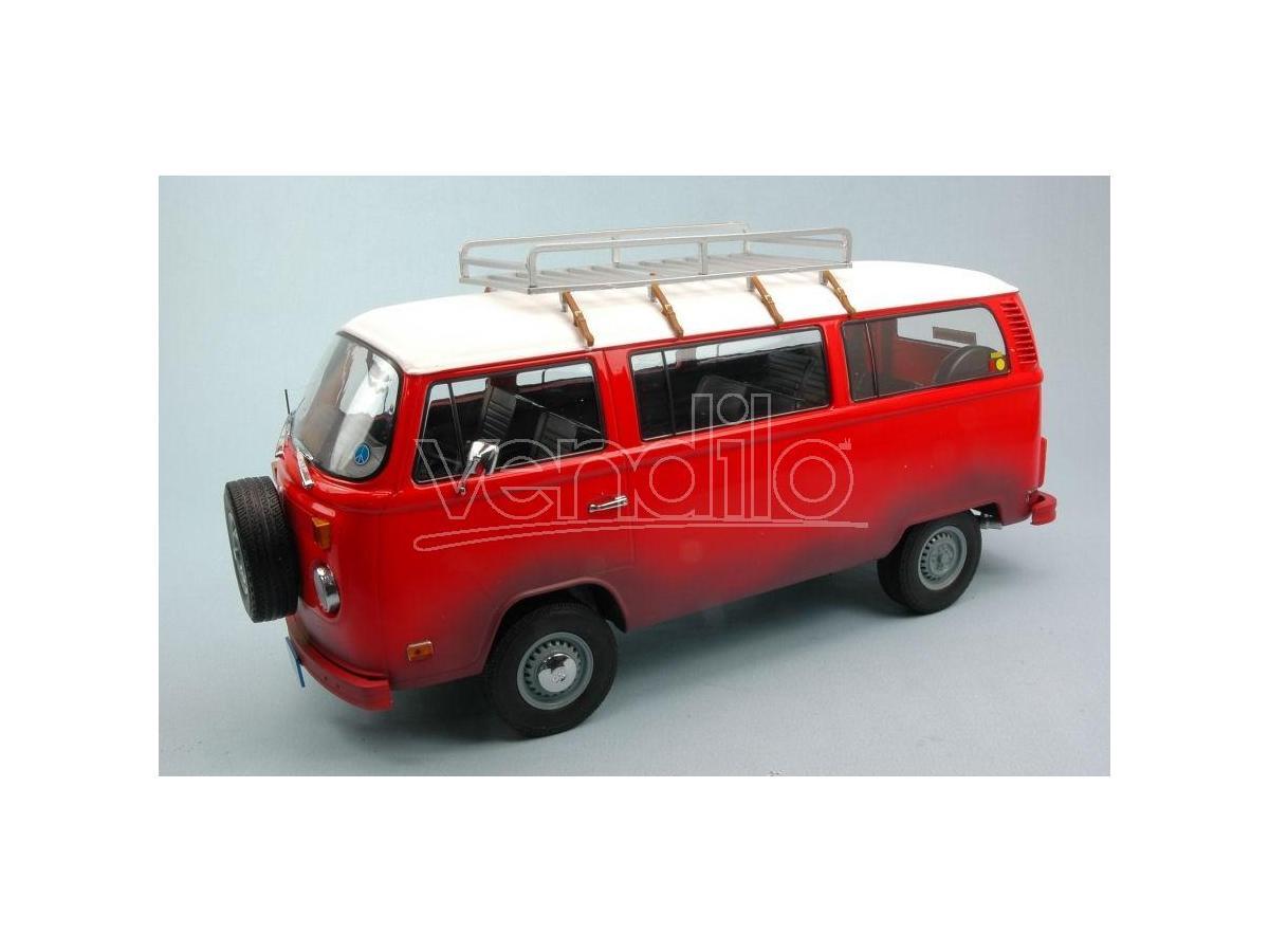 Greenlight GREEN19010 VW BUS T2B 1973 FIELD OF DREAMS (1989) RED/WHITE 1:18 Modellino