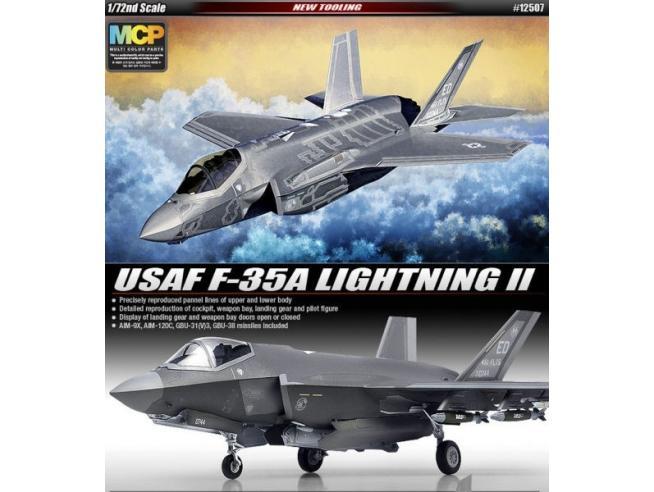 ACADEMY ACD12507 USAF F-35A LIGHNING II KIT 1:72 Modellino