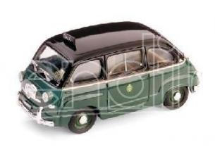 Brumm BM0251 FIAT 600 MULTIPLA TAXI MILANO 1955 1:43 Modellino