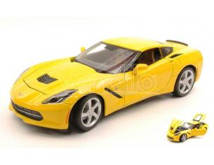 Maisto MI31182Y CORVETTE STINGRAY 2014 YELLOW 1:18 Modellino