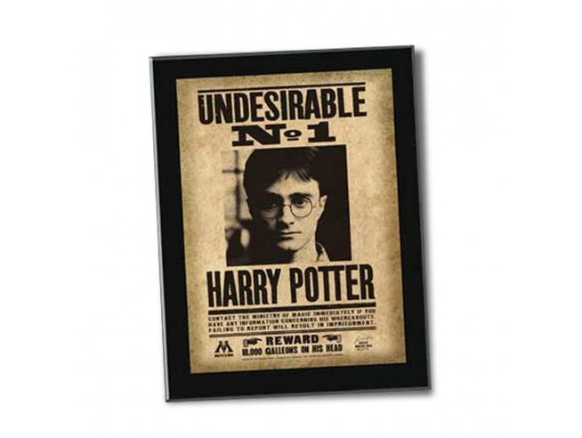 "Targa / Placca ""Indesiderabile N. 1"" Collezione Harry Potter Noble Collection"