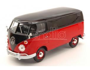 Motormax MTM79342BKR VW TYPE 2 (T1) DELIVERY VAN 1959 BLACK RED 2 TONE 1:24 Modellino