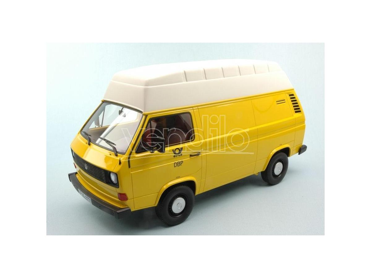 Premium Classixx PREM30022 VW T3 HIGH ROOF GERMAN FEDERAL POSTAL SERVICES YELLOW/WHITE 1:18 Modellino