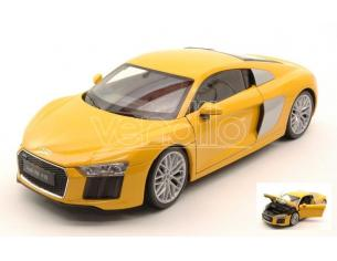 Welly WE18052Y AUDI R8 V10 2016 YELLOW 1:18 Modellino