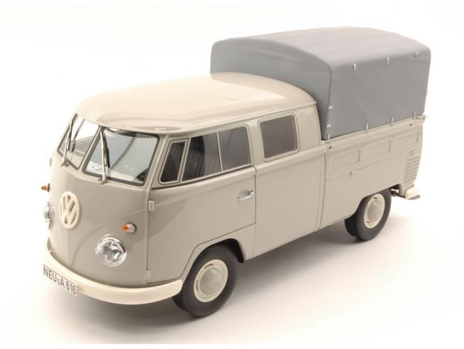 Premium Classixx PREM30080 VW T1 DOUBLE CABIN LIGHT GREY 1:18 Modellino