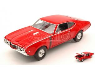 Welly WE24024R OLDSMOBILE 442 1968 RED 1:24 Modellino