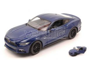 Welly WE24062BL FORD MUSTANG GT 2015 BLUE 1:24 Modellino