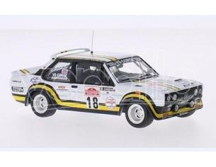 Ixo model RAC205 FIAT 131 ABARTH N.18 ACCIDENT SANREMO RALLY 1978 PASETTI-BARBAN 1:43 Modellino