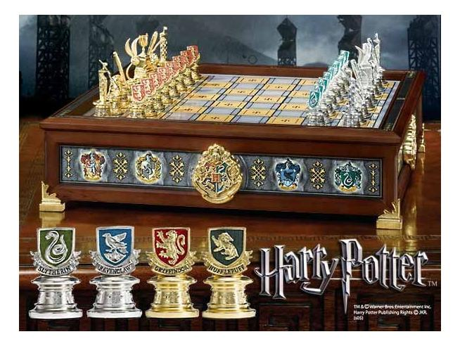 Scacchi Scacchiera Harry Potter   Hogwarts Houses Quidditch Chess Noble Collection