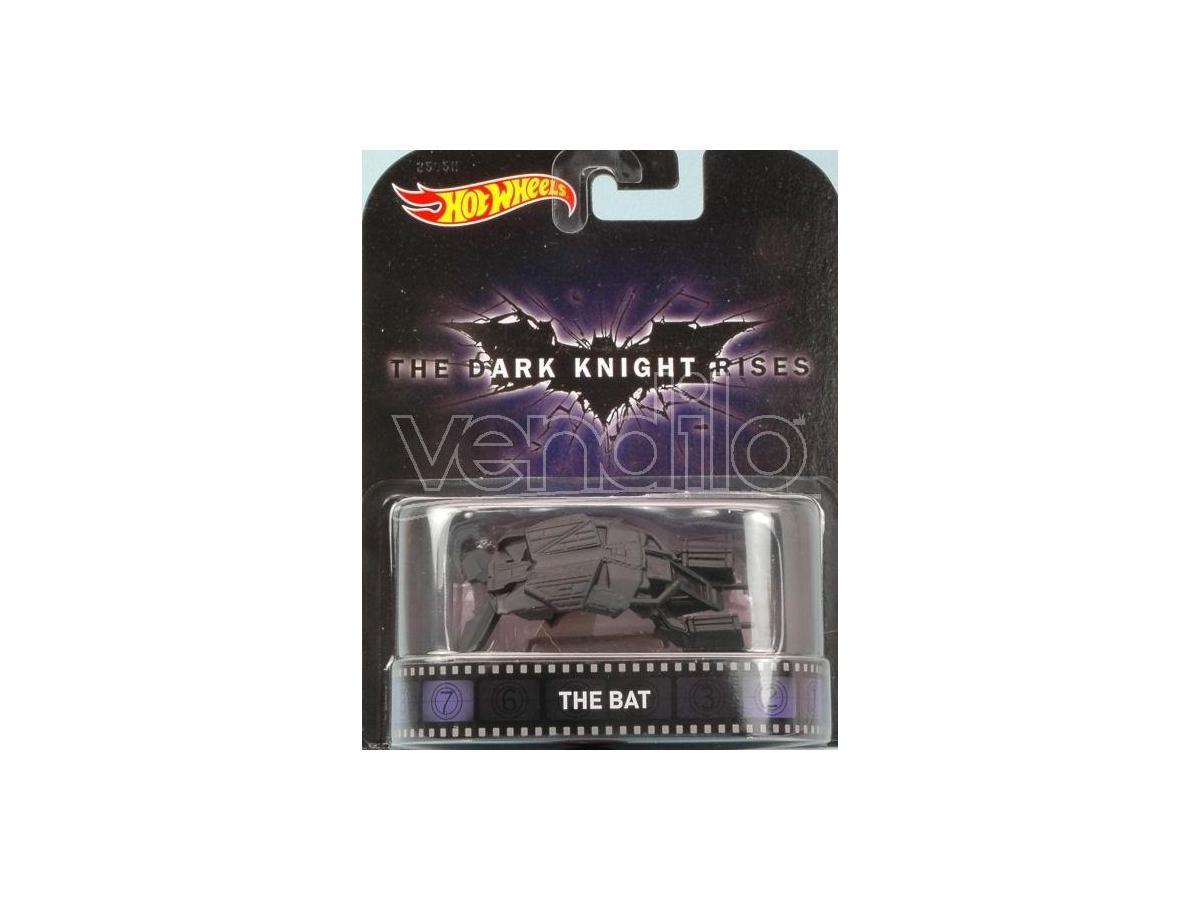 Hot Wheels HWCFR19 THE DARK KNIGHT RISES THE BAT cm 7 Modellino