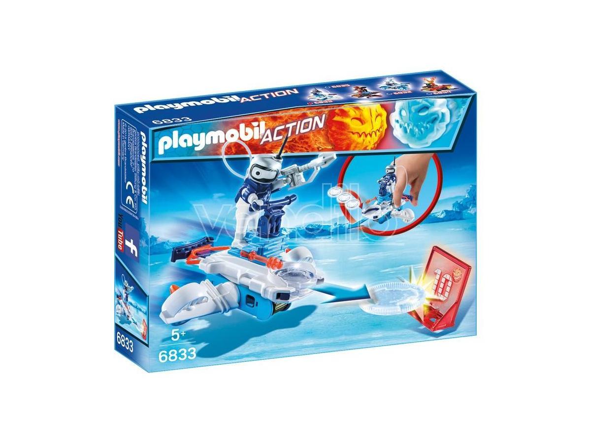 PLAYMOBIL 6833 - ICE-ROBOT CON SPACE-JET LANCIA DISCHI