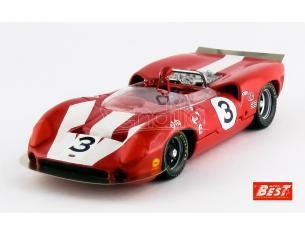 Best Model BT9633 LOLA T70 MK.2 N.3 WINNER CAN-AM ST.JOVITE 1966 J.SURTEES 1:43 Modellino