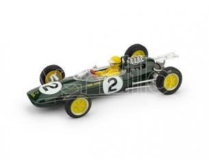 Brumm BM0331BCH LOTUS 25 T.TAYLOR 1963 N.2 RET.BELGIO GP + PILOTA 1:43 Modellino