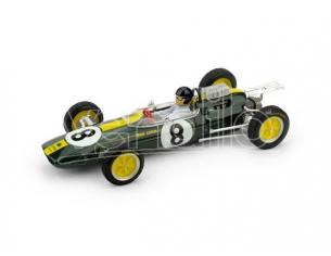 Brumm BM0332CH LOTUS 25 J.CLARK 1963 N.8 WINNER ITALIA GP WORLD CHAMPION + PILOTA 1:43 Modellino