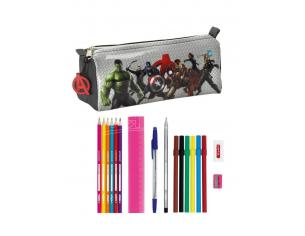 Astuccio portapenne scuola Avengers Age of Ultron 17 Piece pencil case 20 cm Safta